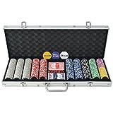 Festnight Poker Set 500 Chips for Poker Game