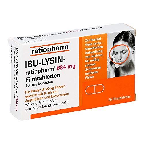 IBU-Lysin ratiopharm 684 mg Filmtabletten, 20 St. Tabletten