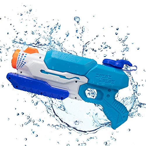 Pistola de Agua, 1000ML Soaker Guns para Niños Años Adultos,, Super Pistola Power Water Gun con Alcance Largo 8-10 Metros Juguetes Piscina Playa Lanzador de Agua para Niños y Adultos