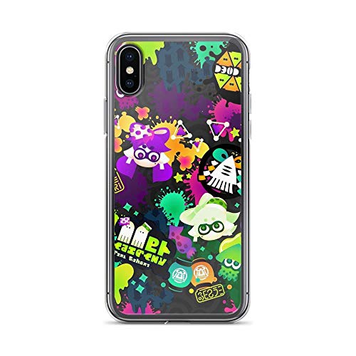 Beamm-Frost Compatible with iPhone X/XS Case Splatoon Squid Inkling Shooter Game Pure Clear Phone Cases Cover