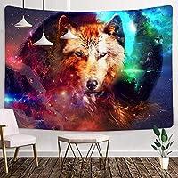 オオカミのタペストリー60X40インチ野生動物のタペストリーファンタジーオオカミの家族のタペストリー寮の装飾リビングルームの寝室の家の装飾6