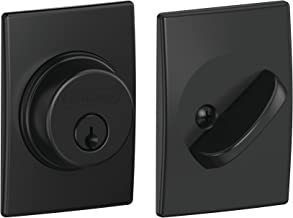 SCHLAGE Fechadura de cilindro único Lock Company com acabamento de século, preto fosco (B60 N CEN 622)