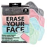ERASE YOUR FACE Make-up Removing Cloths, By Danielle Enterprises, Pastel, 4 Count