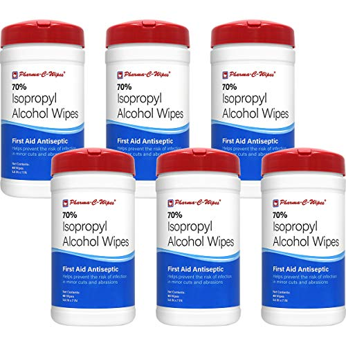 Pharma-C-Wipes 70% Isopropyl Alcohol Wipes (Case of 6 Canisters) MADE IN THE USA