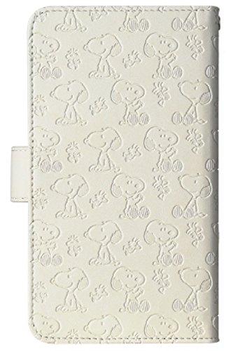 Android One S3 専用 スヌーピー 手帳型スマホケース (新ホワイト) ブック型 カード収納 スライド型 手帳型ケース デニム スヌーピー ウッドストック ギフト プレゼント