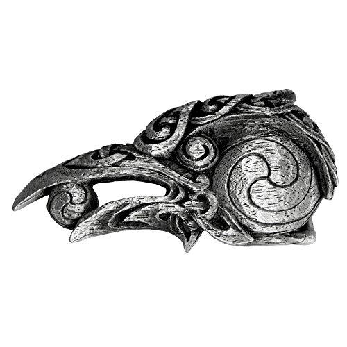 Pewter Celtic Knot Raven Belt Buckle