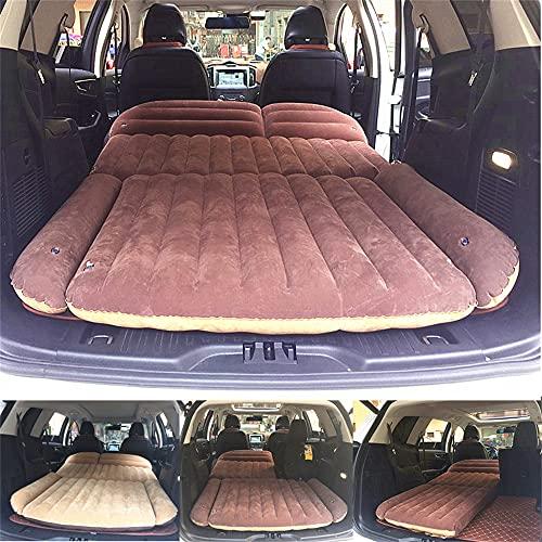 HFDDF Cama de Viaje para automóvil, colchón de Coches Infantiles SUV Tronco colchón Inflable de Coche Flocado portátil Acolchado Almohadas inflables
