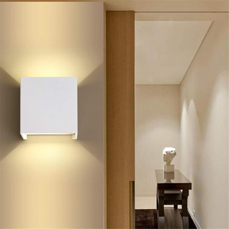 Laogg LED Wandbeleuchtung, LED Wasserdichte Outdoor Indoor Wandleuchter Lampe Cube Licht Abmessungen  10 x X 8 cm
