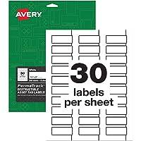 Avery PermaTrack 破壊可能アセットタグラベル 3/4インチ x 2インチ ラベル240枚 (60531)