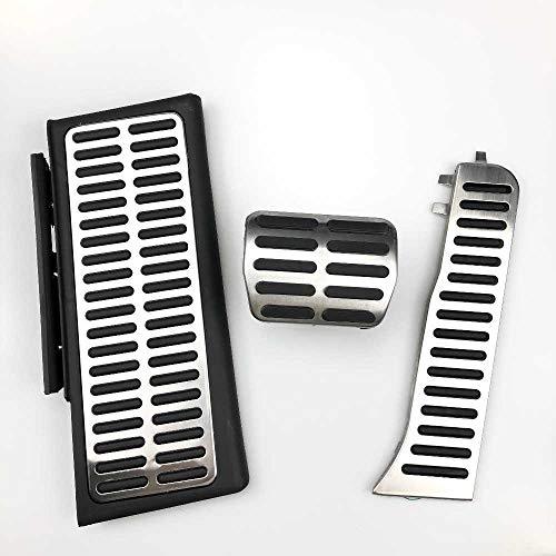 SAXTZDS Accesorios de Estilo de Coche Placa de Almohadilla de Pedales de Freno de Pedal de reposapiés de Aluminio LHD, Apto para Audi Q3 2013-2018