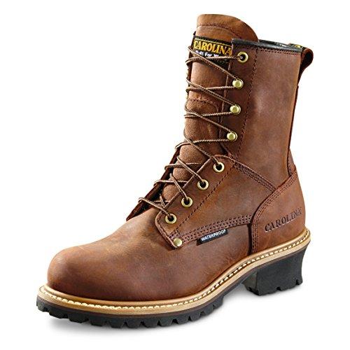Carolina Boots: Men's 8 Inch Waterproof Logger Boots CA8821 - 9EE