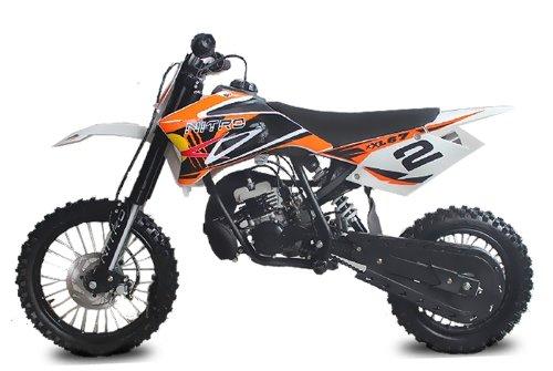 Nitro Motors 49cc NRG50 XL Racing Dirtbike 14/12 9PS | HYDRAULIK Brakes | Upsidedown (Orange)