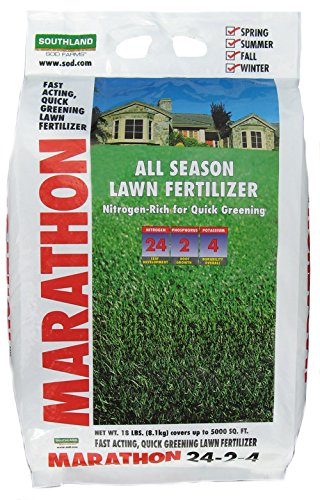 Marathon 24-2-4 All Season Fertilizer Bag, 18 lb