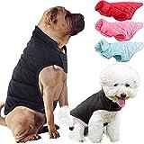 Etechydra - Chaleco para perro de invierno cálido para perro, ropa de forro polar suave, ligera y acogedora, para perros pequeños, medianos y grandes, color negro M