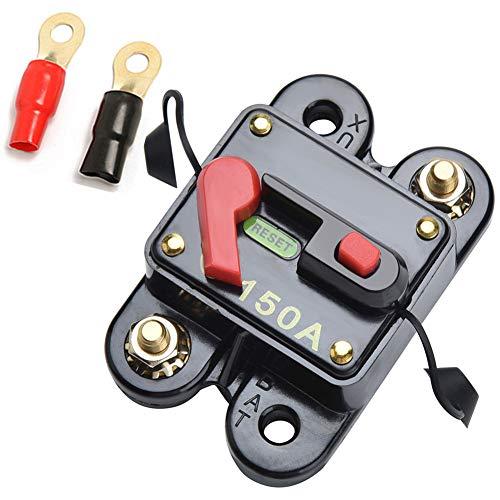 Qiorange 12V-24V 150A DC Automatische Sicherung Schalter Leistungsschalter Reset Sicherung Auto Marine Boat Bike Stereo Audio (150A)