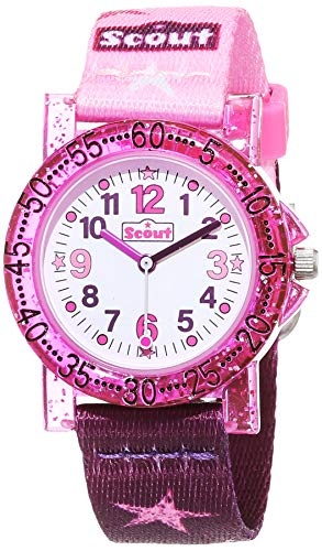 SCOUT Uhren Mädchen Analog Quarz Uhr mit Textilband Armband 1
