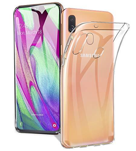 A-VIDET Cover Samsung Galaxy A40,TPU Silicone Protettiva Custodia Ultra Sottile Leggero Custodia AntiGraffio Case per Samsung Galaxy A40 (Trasparente)