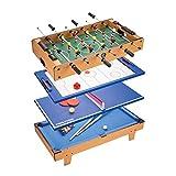 Mesa Multifuncional Multijuegos Futbolin Mesa Mesa de múltiples juegos, mesa de juego 4 en 1, mesa de hockey, mesa de futbolín con fútbol, mesa de billar, mesa de tenis de mesa a domicilio, mesa de
