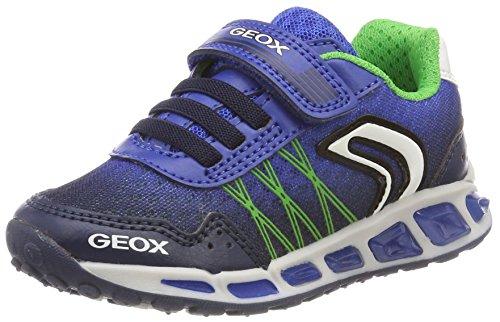 Geox Jungen J Shuttle Boy B Sneaker, Blau (Navy/Royal), 30 EU
