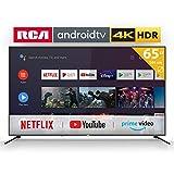 RCA RS65U2 Smart TV (65 Pouces 4K Android TV avec Google Assistant, Google Play Store, Prime Video, Netflix) HDMI,USB,WiFi,Bluetooth,Triple Tuner (DVB-C / -T2 / -S2)