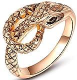 SaySure Gold Plated Birthday Gift Anniversary Snake Ring for Men or Women