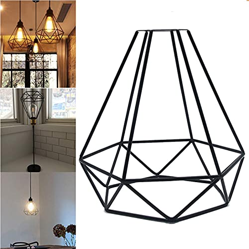 Paralume geometrico in metallo, paralume a gabbia di ferro, paralumi per lampade, paralume in metallo vintage Industriale, Retro paralume a soffitto retrò a sospensione per lampada a sospensione