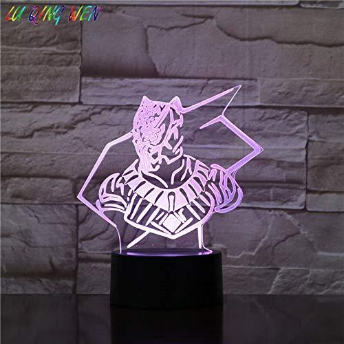 Superheld Film Comics Black Panther Nachtlicht Junge Kind Geburtstag Geschenk Licht Schlafzimmer Dekoration 3D LED Tischlampe Kinder Geschenk Nachtlicht