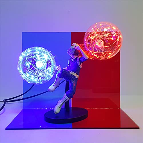 My Hero Academia Todoroki Shoto Night Light 3D LED Lampada Action Fire Bulb Figure Light Power Table Lighting Boku No Hero Academia(EU Plug)