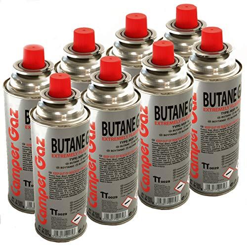 Pack de 8 cartouches gaz 227g butane Bouteille de gaz UN 2037 standard 227 g - bonbonne pour réchauds camping