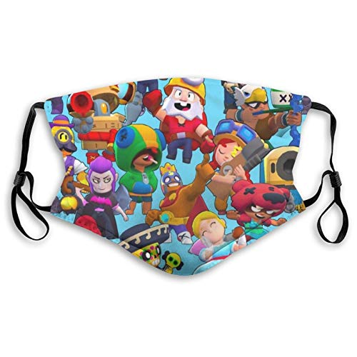 Cloth Face Mask Brawl Battle Stars Protective Mouth Cover for Adults Kids Breathable Washable