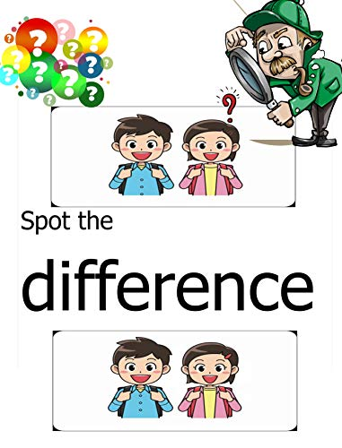 Spot the Difference: Puzzles spot the difference activity books for kids .Brain Teasers (English Edition)