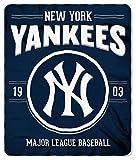 Northwest MLB New York Yankees 50x60 Fleece Southpaw DesignBlanket, Team Colors, One Size