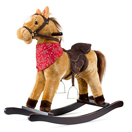 JOON Cowboy Rocking Horse - Tan Brown
