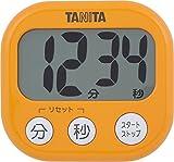 タニタ タイマー 大画面 100分 オレンジ TD-384 OR でか見えタイマー