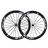 ICAN 50mm 700C Carbon Wheels Road Bike Clincher Rim Brake Only 1510g (Classic Wheelset)