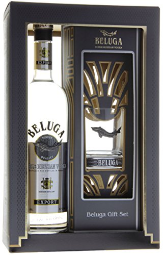 BELUGA Noble Russian Vodka GB mit 1 Rocking Glas