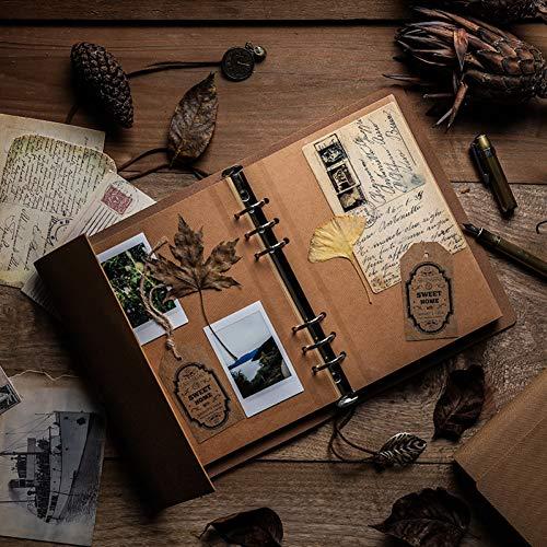 YUNYOTE delicate pu-leer DIY handboek losse bladeren fotoalbum spiraal pagina originaliteit lijm coating Travel Memorial Memoiren cadeau