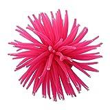 Motyy Silicona Acuario Decoracion Coral Artificial Planta Submarino Decoracion - Rose Red