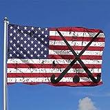 384 Bandera del Jardin Hockey sobre Césped EE. UU. Bandera Americana Palo De Hockey Bola Desgastada 90X150 Cm Banner De Patio Bandera De Patio Al Aire Libre Única Impresión Clásica Fe
