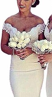 con Scollo a V Damigelle dOnore Ballo FYMNSI Bendaggio Convertibile Scollo a V per Matrimoni Cocktail Feste Formali Abito Lungo da Donna spettacoli Scollato alla Schiena Sera