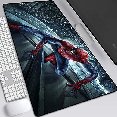 Mouse Pads Marvel Iron Man Spider-Man, Gaming Anime Extended Keyboard Table Mat, Non-Slip Rubber Base, High Sensitivity and Stable Adsorption (Color : H, Size : 400X900X3mm)