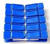 Cosanter Wäscheklammern 10 Stück Schnullerclip Groß Helle Farbe Kunststoff Handtuch Clips Quilt Clips Blau
