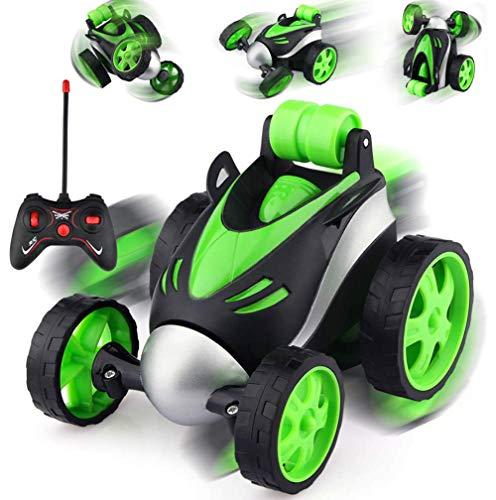 Ferngesteuertes Auto - 360°Spins RC Stunt Auto Rennauto 2.4Ghz Radio Ferngesteuerter Buggy Auto, High Speed Spielzeugauto, Auto Spielzeug Rennfahrzeug für Kinder Jungen Mädchen(Grün)