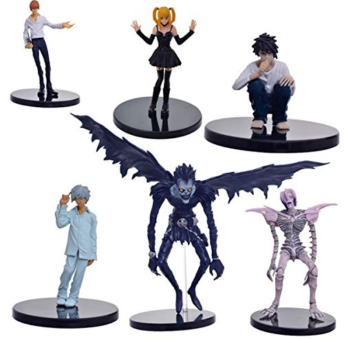 EASTVAPS Lot de 6 Death Note Figurines Jouets 15cm