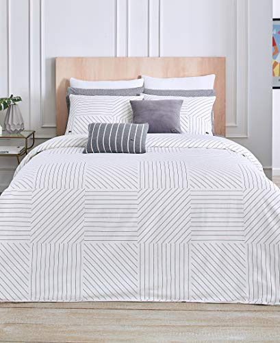 Lacoste Guethary Duvet Set, Twin/TwinXL, White