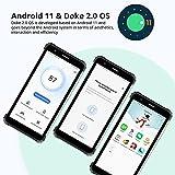 Blackview BV6600E Rugged Phone, 8580mAh Battery, Android 11 Dual SIM 4G Rugged Mobile Phone, 5.7 inch HD+, 4+32GB(SD 128GB), Octa-Core Processor, 13MP+5MP Rear Camera, Face ID/GPS/Waterproof - Black