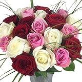 Premiumblumenstrauß - Rosenstrauß de Luxe - Langstielig - Großblütig
