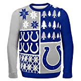 NFL Indianapolis Colts BUSY BLOCK Ugly Sweater, Medium