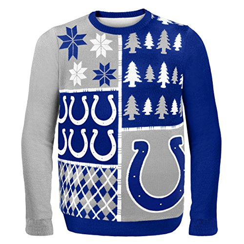 NFL Indianapolis Colts BUSY BLOCK Ugly Sweater, Large>