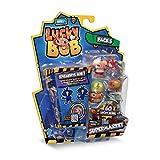 LUCKY BOB - Pack 5 Supermarket - 5 Figuras Divertidas de Lucky Bob con Sus Accesorios del Supermercado